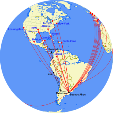 Flights to Argentina from North & South America